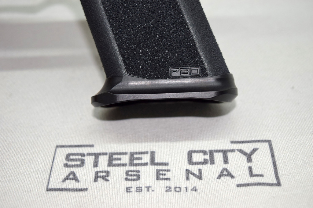 Steel City Arsenal Slim magwell for Polymer 80 PF940V2 Frames- Ano Black
