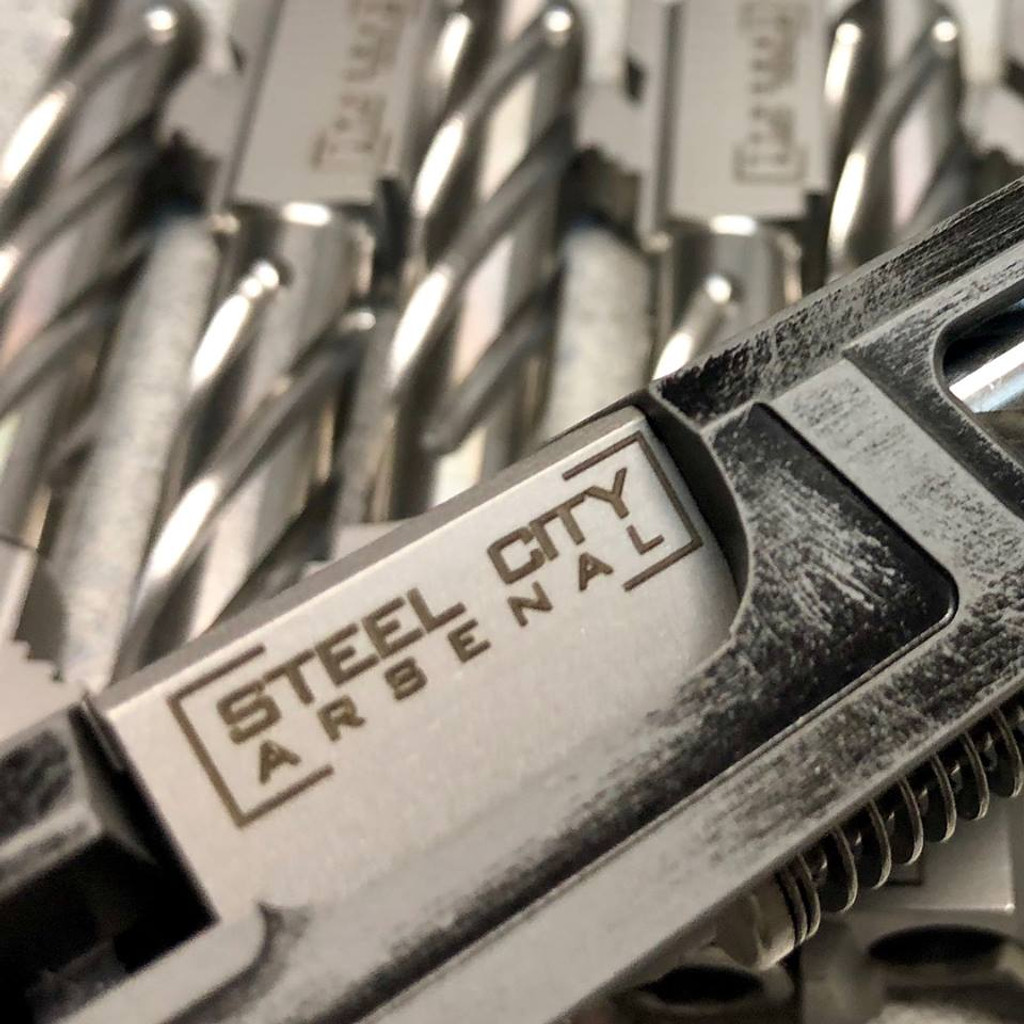 Steel City Arsenal 416R Stainless Steel Spiral Fluted 9mm Threaded Barrel for Glock 19 Gen 1-5