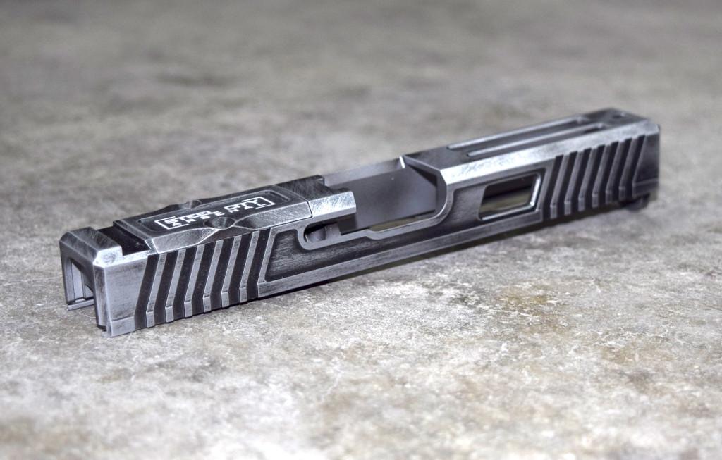 [RSNL] Slide for Glock 17 Gen 3 Battleworn Gray RMR Cut Poly 80