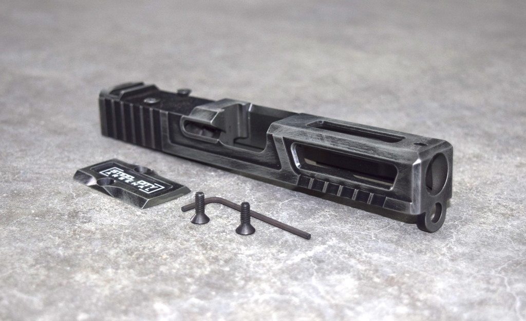 [Ultralight] Slide for Glock 19 Gen 3 Battleworn Green RMR Cut Poly 80