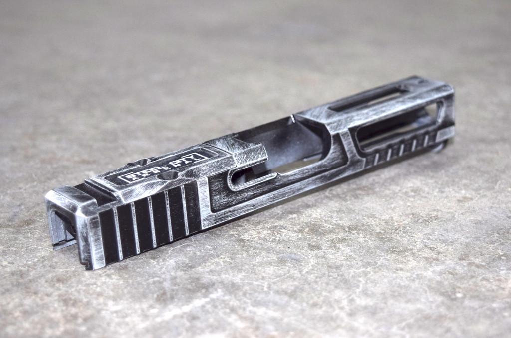 [Ultralight] Slide for Glock 19 Gen 3 Battleworn White RMR Cut Poly 80