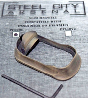 Steel City Arsenal Slim Magwell for Polymer 80 PF940C Compact Frames Battleworn FDE