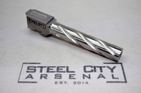 Steel City Arsenal 416R Stainless Steel Spiral Fluted 9mm Barrel for Glock 17