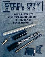 Steel City Arsenal 9mm Upper Parts Kit for Glock Gen 1-4 Polymer 80 includes Channel Liner Tool