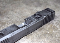 [P40 Warhawk] Slide for Glock 17 Gen 3 Battleworn Gray slide RMR Cut Poly 80