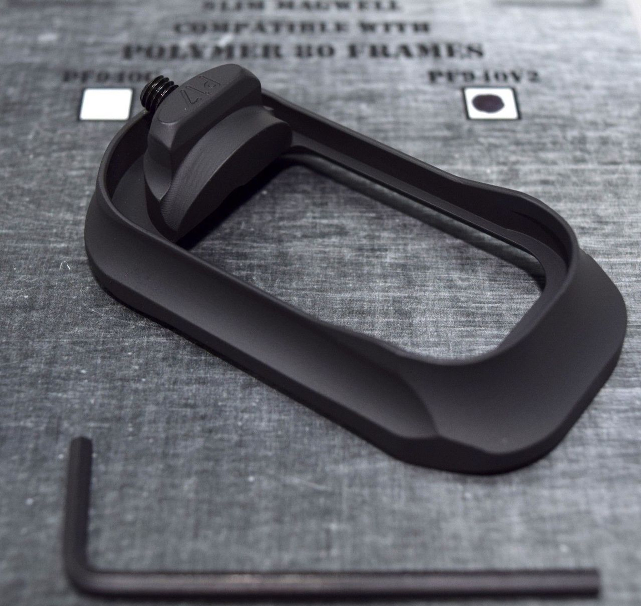 Steel City Arsenal Slim magwell for Polymer 80 PF940V2 Frames- Ano Black