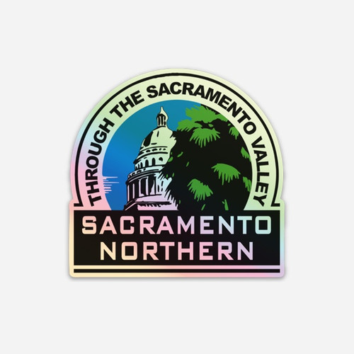 Sacramento Northern Logo - holographic sticker