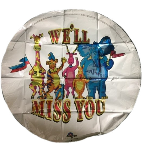 Retirement missing you balloon