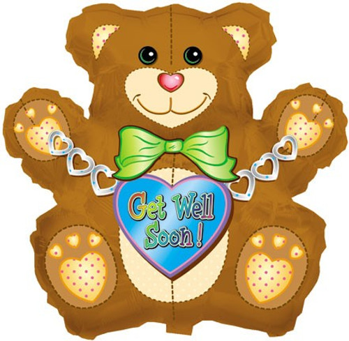Huge Get Well Teddy Bear Balloon