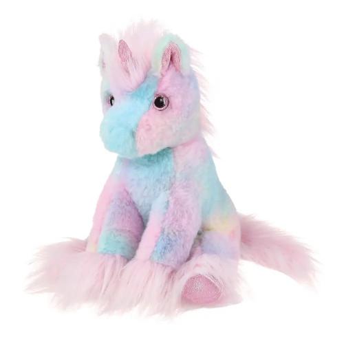 Rainbow plush unicorn toy