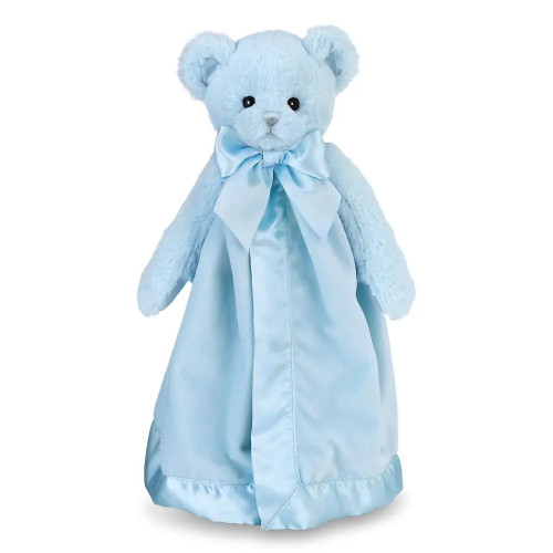 Blush plush bear with attached blanket