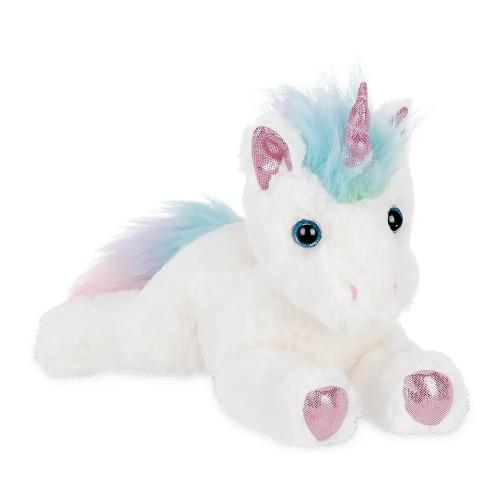 The Bearington Collection Lil' Rainbow Shimmers Unicorn Stuffed Animal Plush