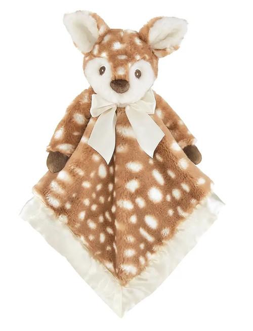 The Bearington Collection Lil' Willow Fawn Snuggler Blanket Stuffed Animal Plush