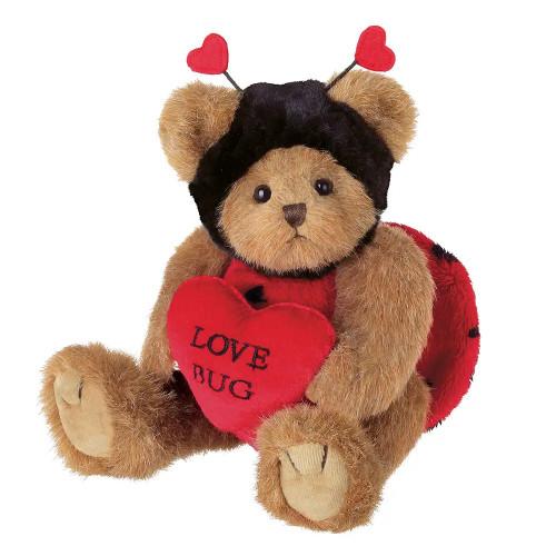 The Bearington Collection Valentine Love Bug The Teddy Bear Stuffed Animal Plush