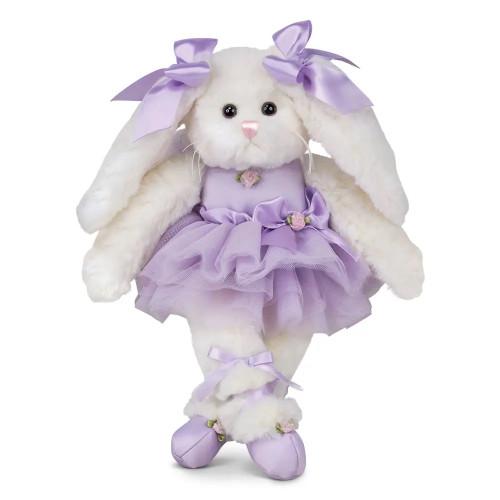 The Bearington Collection Twirlina Ballerina Bunny Purple Stuffed Animal Plush