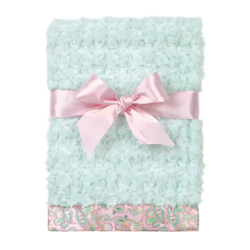 The Bearington Collection Soft Swirly Paisley Blankie Baby Receiving Blanket