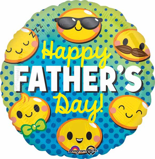 Round Father's Day Foil Balloon