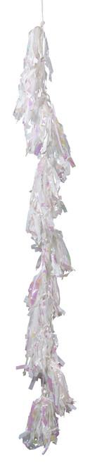 6 feet White Iridescent Tassels for Balloons