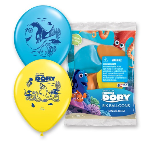 6pk Disney Pixar Finding Dory Latex Balloons
