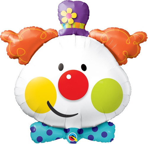 "36"" Colorful Clown Foil Jumbo Balloon"