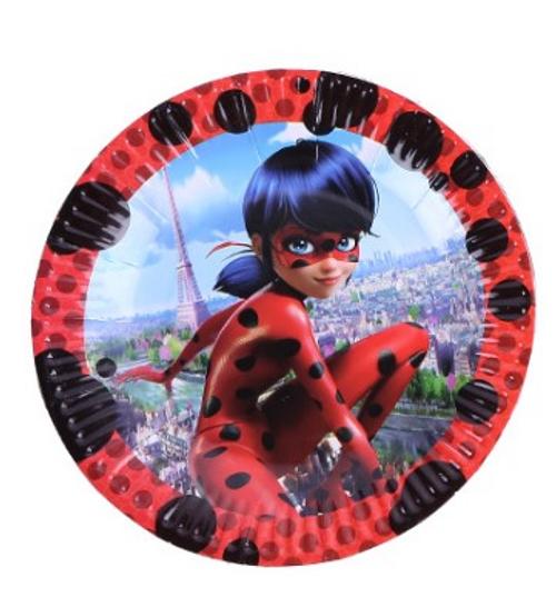 Birthday Party Miraculous Ladybug Dessert Paper Plates