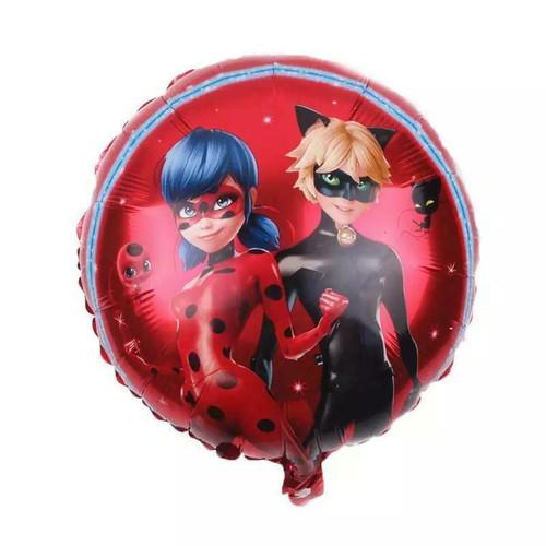 Birthday Party Miraculous Ladybug Round Foil Balloon