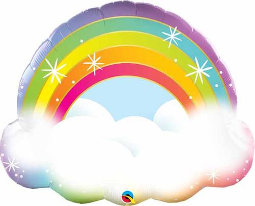 Cloud & Rainbow Foil Balloon