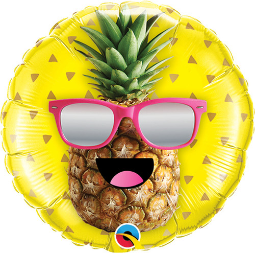 Mini Mr. Cool Pineapple Foil Balloon