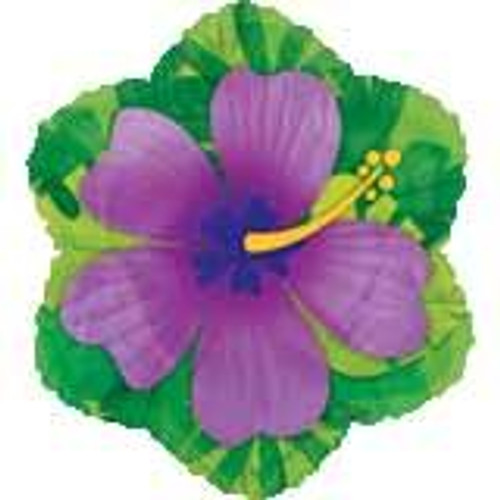 Tropical Flower Round Foil Balloon