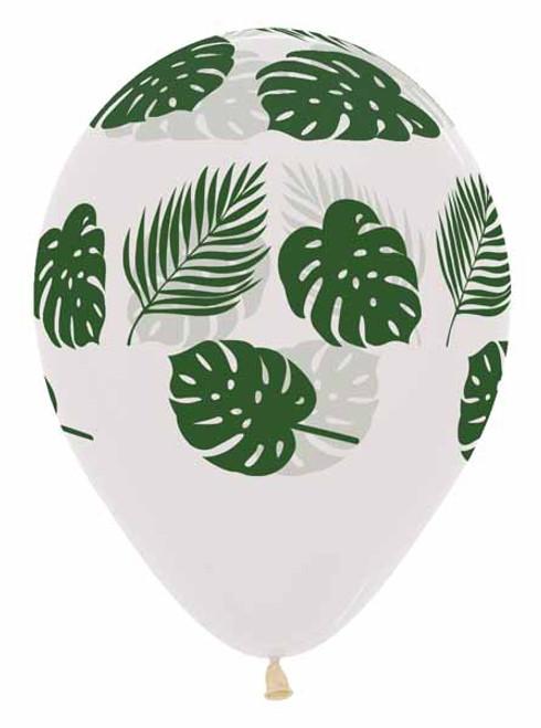 Tropical Leaves Latex Balloon