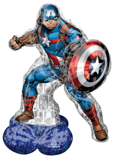 Captain America Superhero AirLoonz Foil Decor