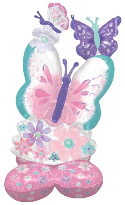 Beautiful Spring Flower & Butterflies  AirLoonz Foil Decor