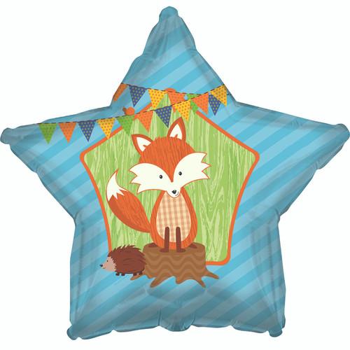 Adorable Fox Star Shape Foil Balloon