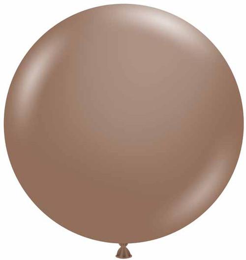 """Tuftex 36"""" Latex Balloon Cocoa"""