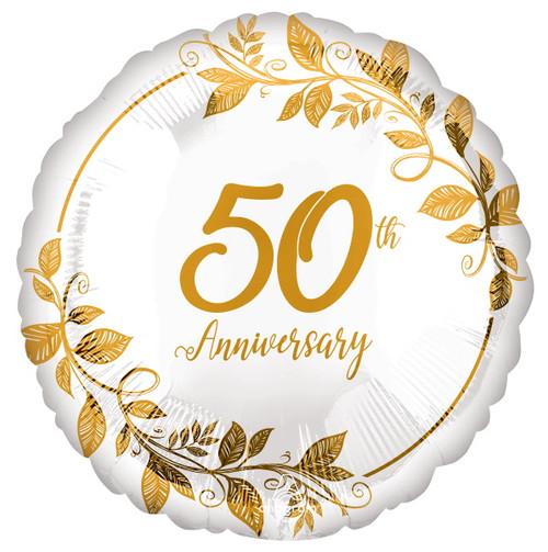 "Anagram 18"" Happy Anniversary Gold Foil Balloon"