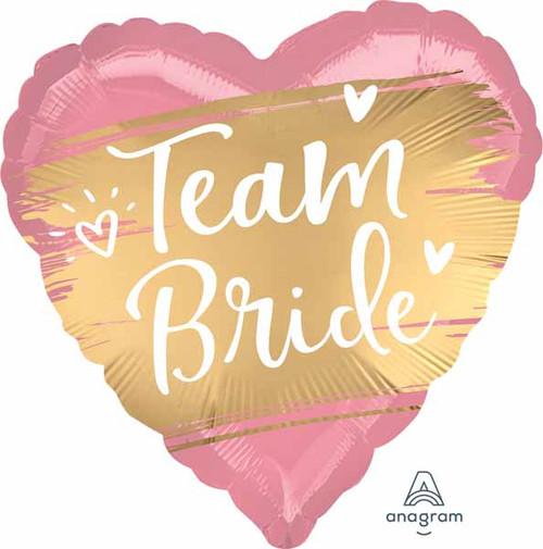 "Anagram 18"" XL Heart Team Bride Gold Foil Balloon"