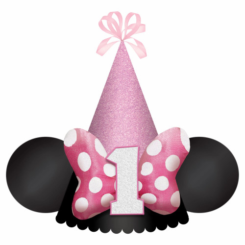 Minnie Mouse Forever Deluxe Pink Bow Birthday Party Hat