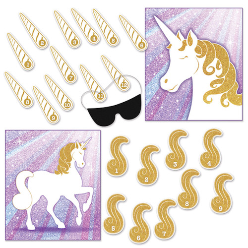 Unicorn Birthday Party Games 2 Pack