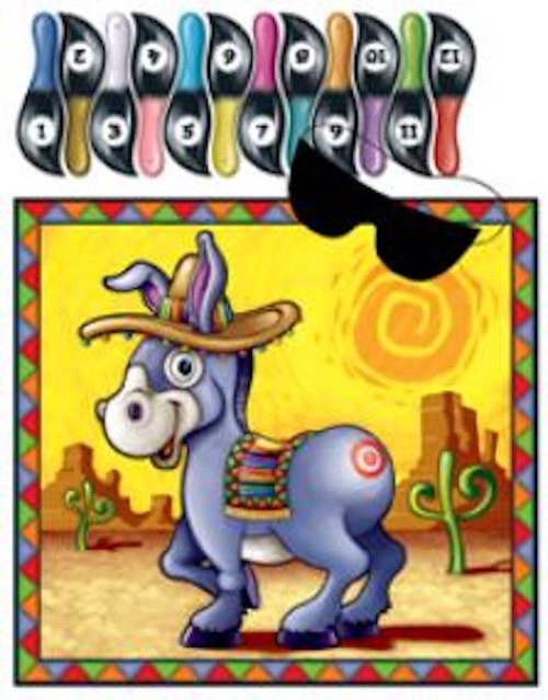 Pin the Tail on the Donkey Birthday Party Game
