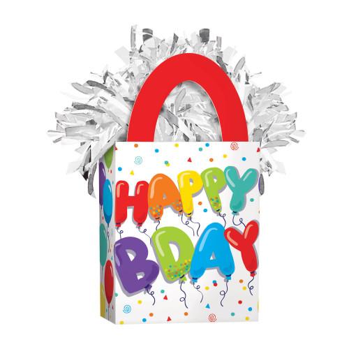 Happy Birthday Celebration Mini Tote Balloon Weight
