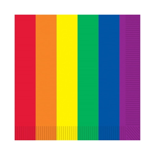 Rainbow Luncheon Paper Party Napkins 16 Pack