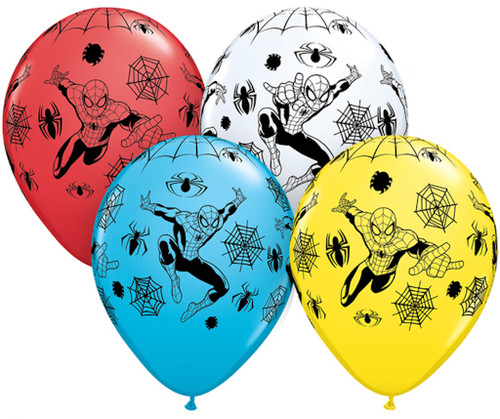 """Pioneer 11"""" Marvel Spider-Man Balloon Assorted Colors"""