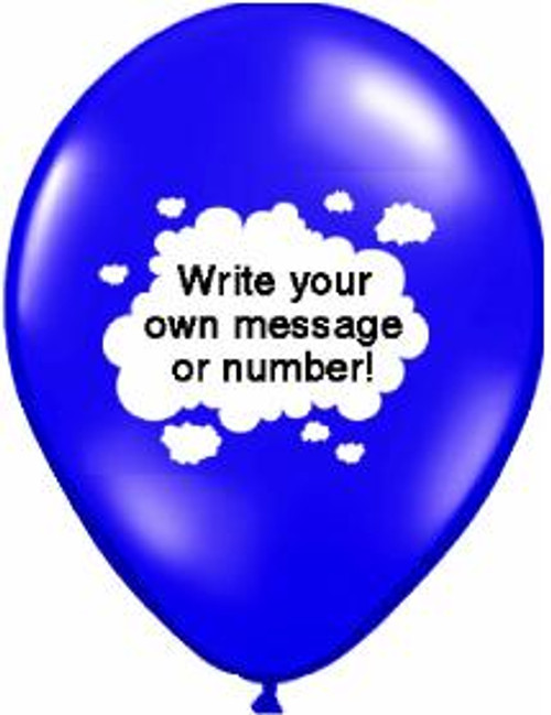 """Personalize 11"""" Latex Cloud Balloon"""