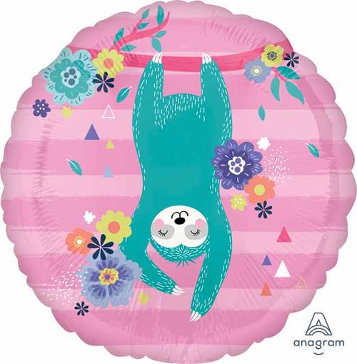Beloved Sloth Happy Birthday Foil Balloon