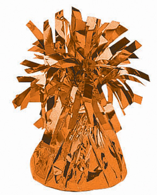 Orange Foil Weight for Balloons