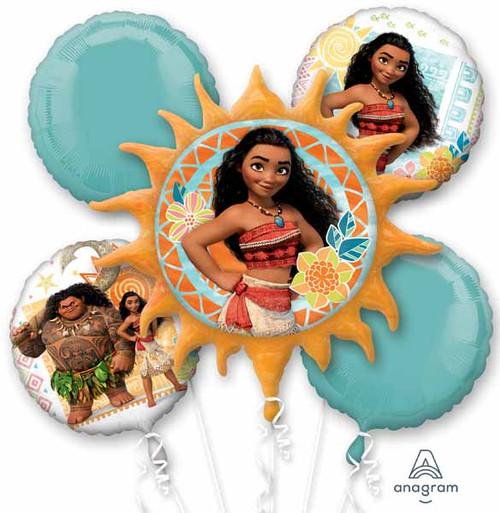 5 Piece Balloon Moana Decoration Kit