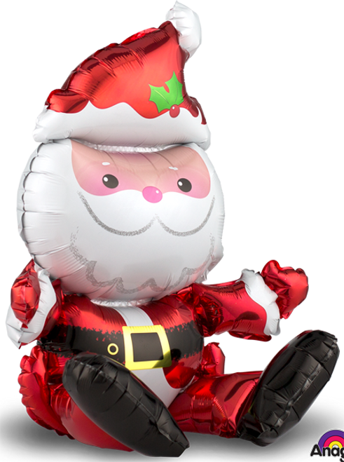 "21"" Sitting Santa Claus on a Shelf  Air Filled"