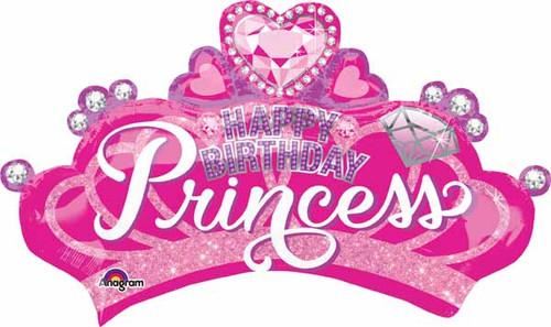 Jumbo Pink Crown Birthday Balloon