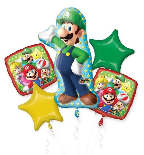 Luigi Balloon Bouquet for Happy Birthday