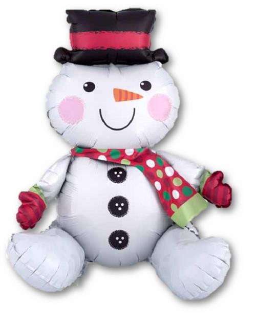 Sitting Snowman on a Shelf Air Filled